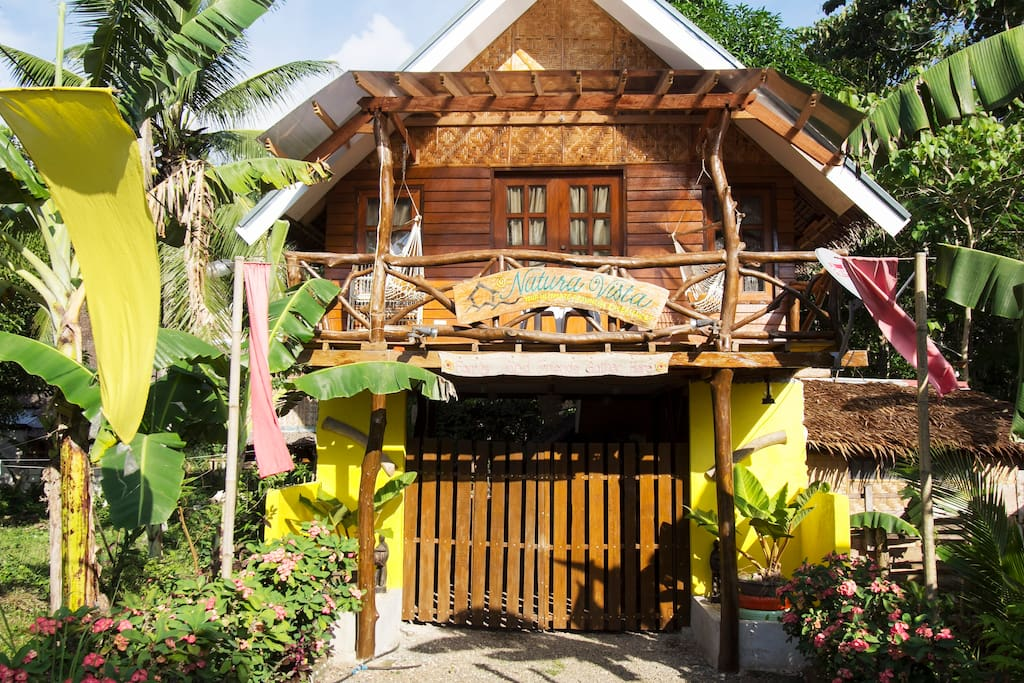 Native Cottage Exterior. It has that old Filipino provincial fee.