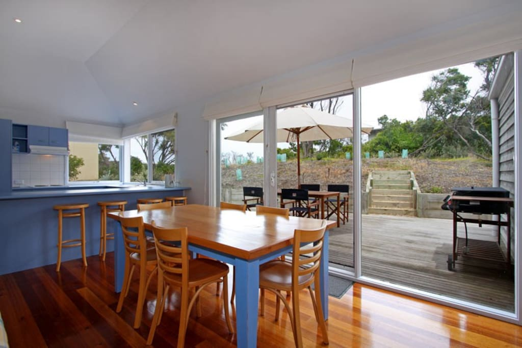 Great access to the relaxing private deck area