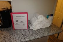 Fresh Towels & Welcome Guide