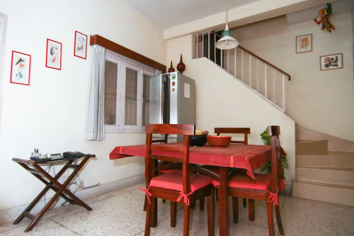 Dining area, steps going to the room for rent