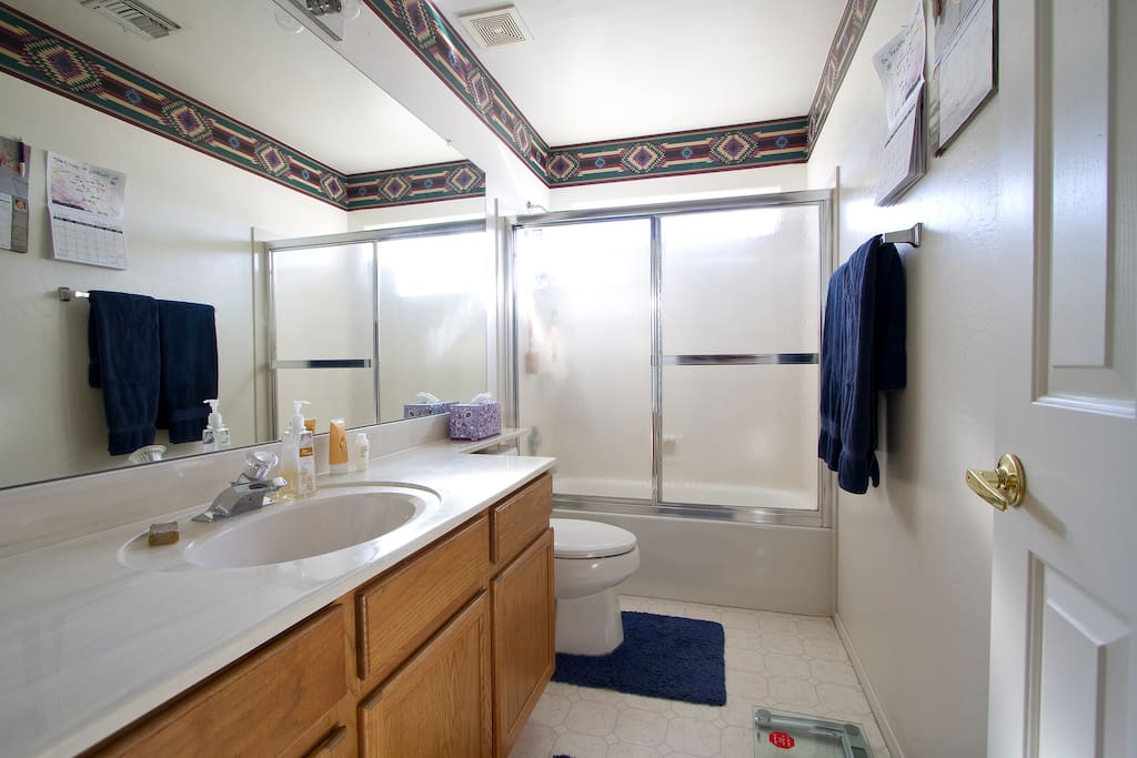 This is the bathroom for the exclusive use of our guests.  A second bathroom is available upon request