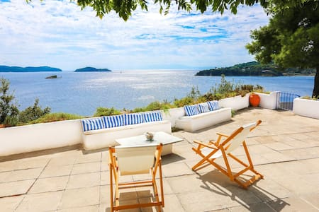Beachfront Greek Villa with Semi-Private Beach - Skiathos - Villa
