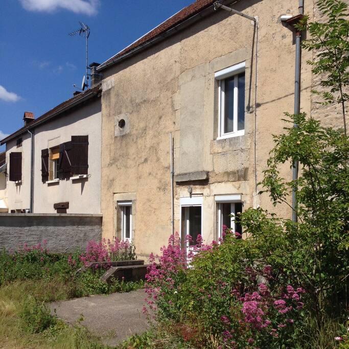 Main Facade of the house facing the garden.