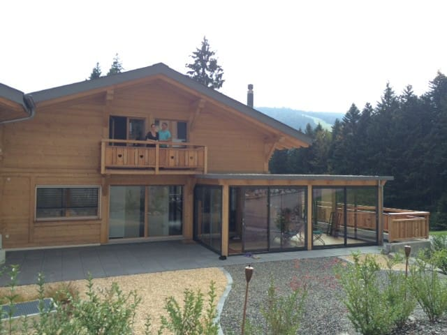 Room in a comfortable modern chalet - Châtel-Saint-Denis