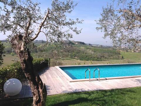 Sangiovese, house among vineyards and truffles