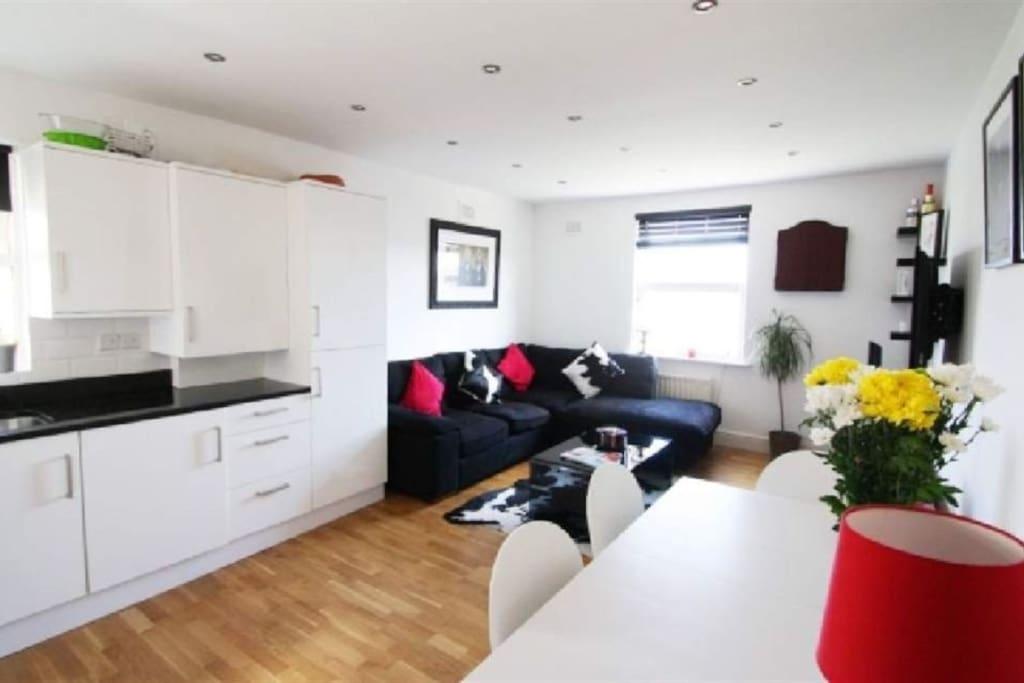 Open plan kitchen living space