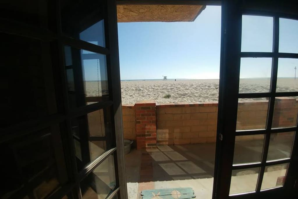 View from the Living Room of the beach and patio