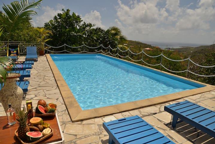 La villa du cap pour 12 personnes avec piscine - Le Marin - Willa
