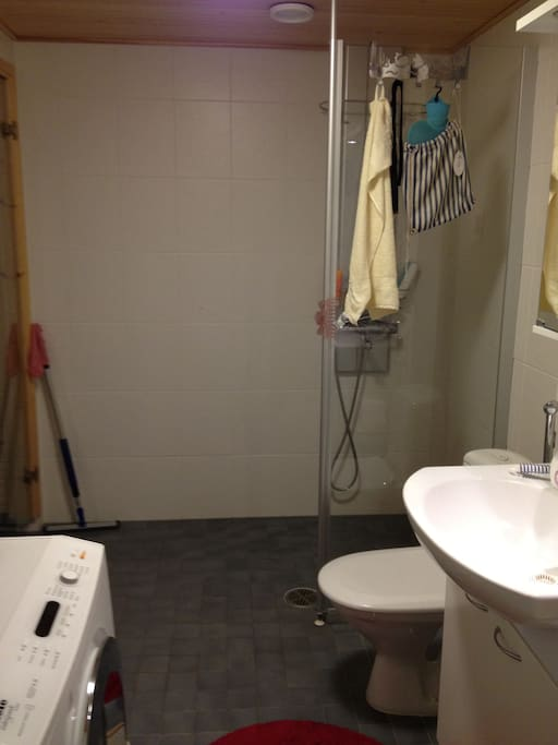 Shower, suitable for handicapped!