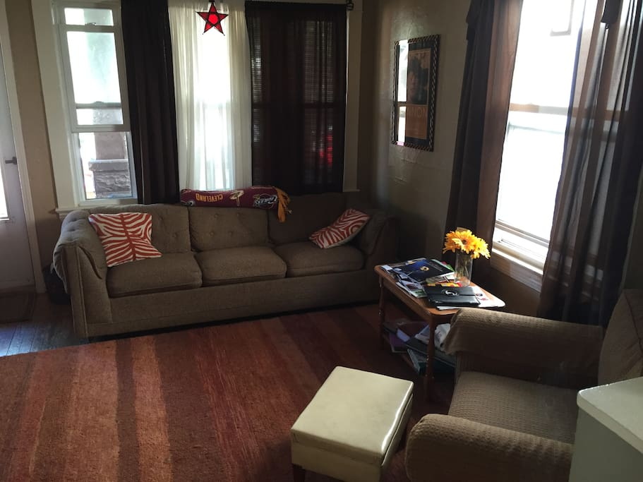 Front Living Room - pull out couch available for guest(s)!