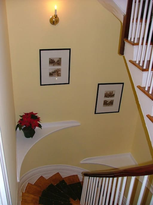 Stairs are in the heart of the house No elevators!-