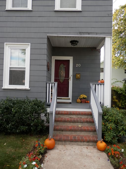 The front of the house, decked out for autumn.