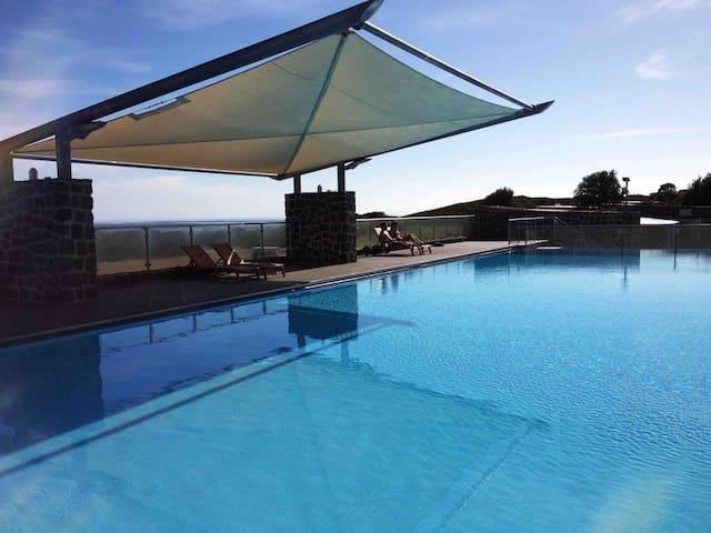 Heated outdoor pool. Seasonal opening dates.
