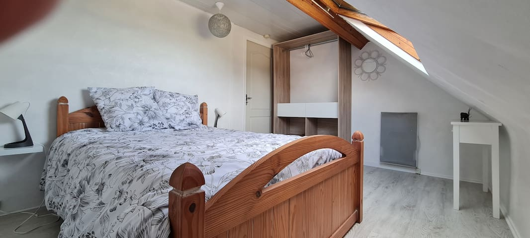 Bedroom for two people.