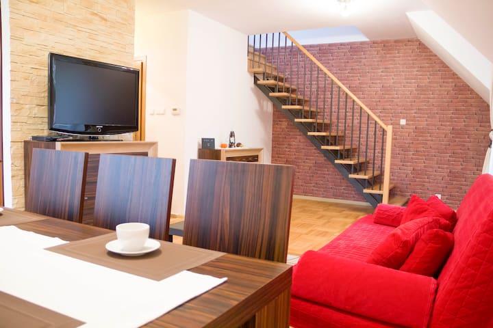 Apartament dwupoziomowy Zalesie