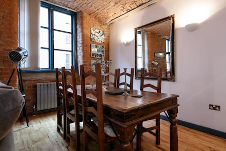 Stylish 1 bed Flat -Mill Conversion - Apartment