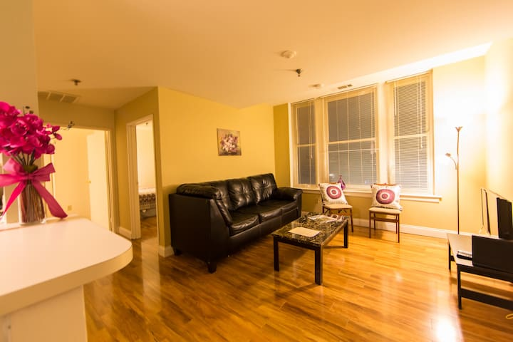 Older Apt with Great WiFi and a View of Downtown!!