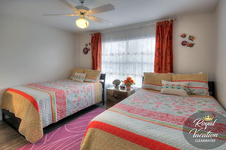 Second Bedroom - 2 double-sized beds, perfect for children or friends