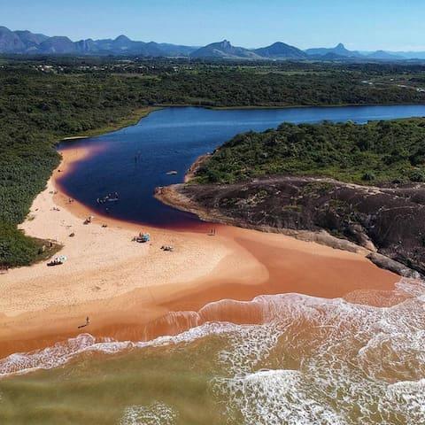 Lagoa da Coca cola - Encontro com a Praia de Setibão - Balneário de Setiba