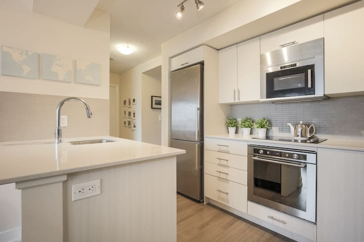 Luxury Spacious (2+1 BR) Modern Condo with Parking