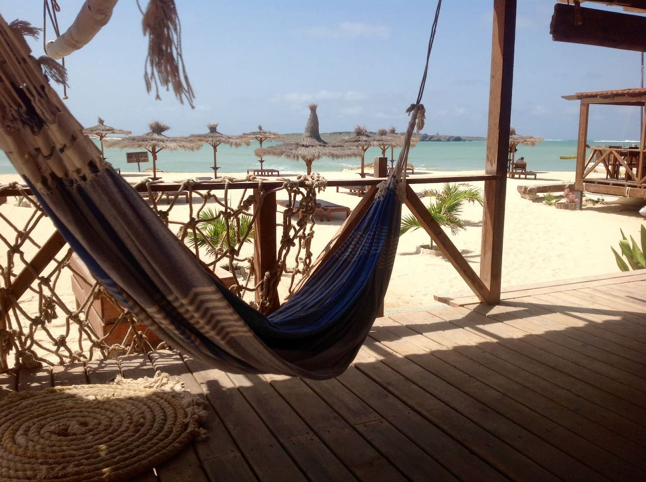 Relax on the hammock in the terrace