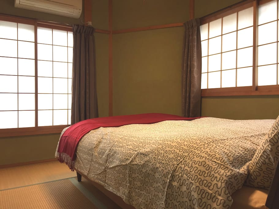 Bedroom #1 - Big windows as well as Veranda for enough sunlight and fresh air in the room. Air-conditioned.