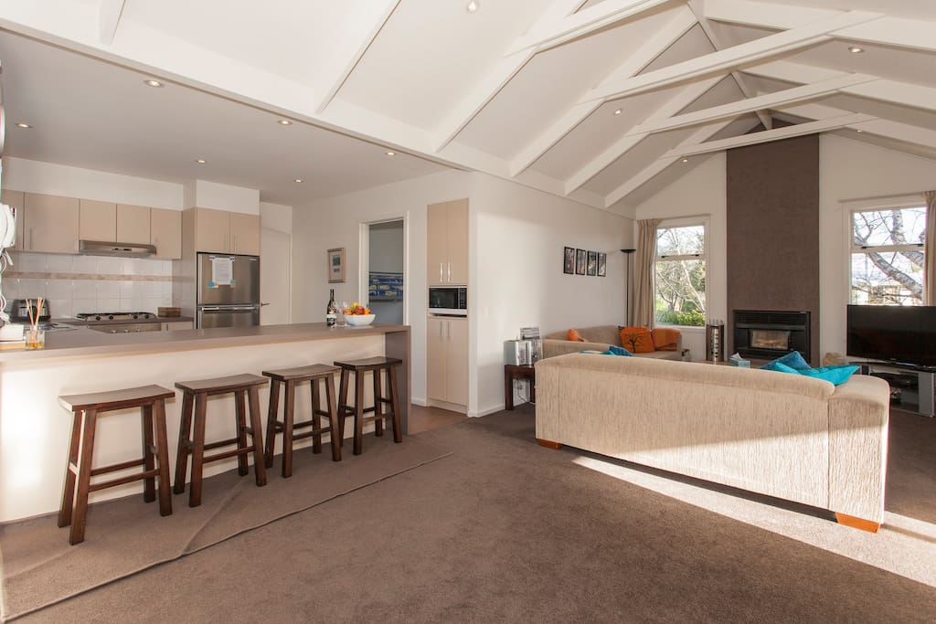 Very spacious kitchen, dining room, lounge
