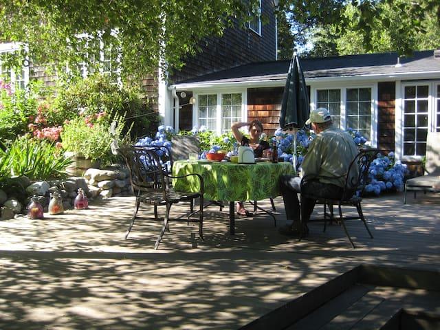 country home in garden near beaches