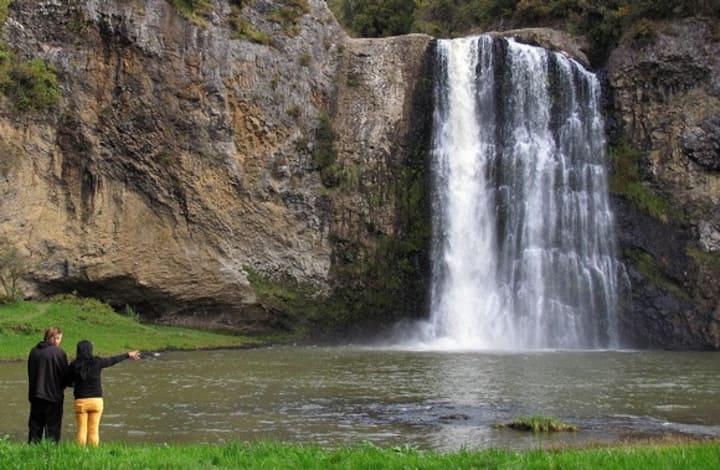 Ti Tree Lodge Farmstay:     Top of the Hunua Falls
