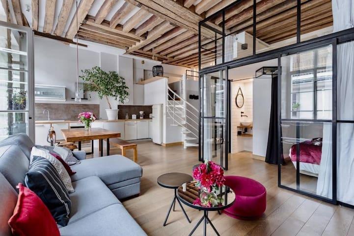 Loft in the center of Paris