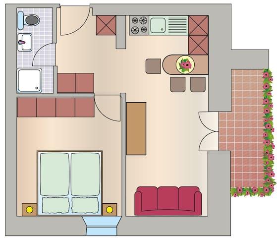 Grundriss Wohnung Meranblick