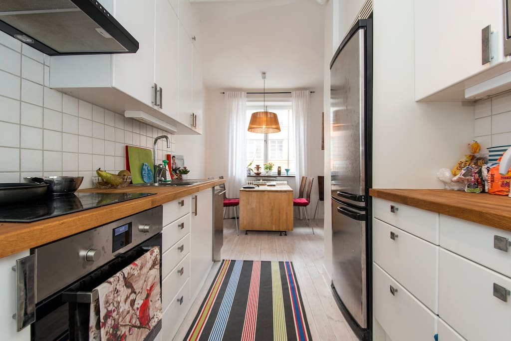 Kitchen with latest induction cooker