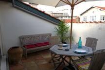 Terrasse en plein cœur de Biarritz  produit rare!