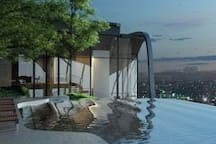 Chatuchak Luxury big rm sky pool gym MRT JJ market
