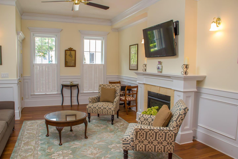 Living room with view toward Washington Square