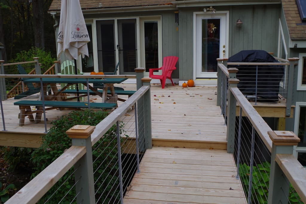 Enlarged and remodeled deck.