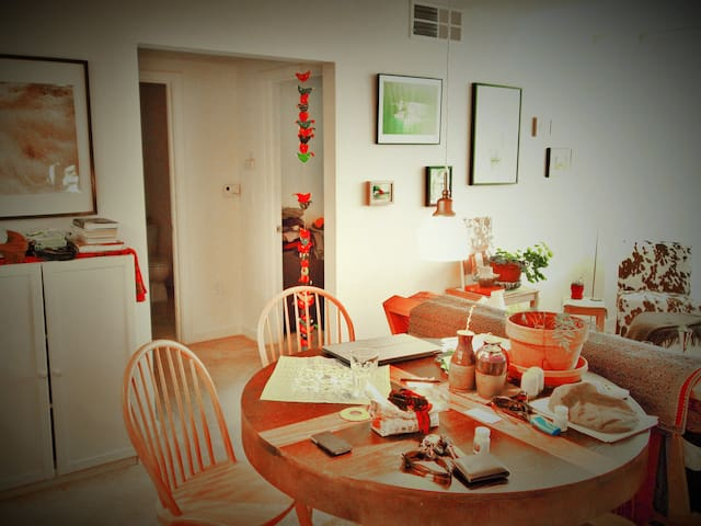 Dining area. You may invite guests for a quiet dinner.