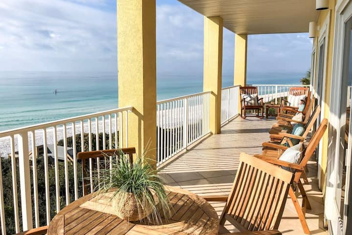 Beach Front Paradise! Pool - WiFi - Elevator - Steps to Sugar Sand Beaches! 2 Miles to Seaside