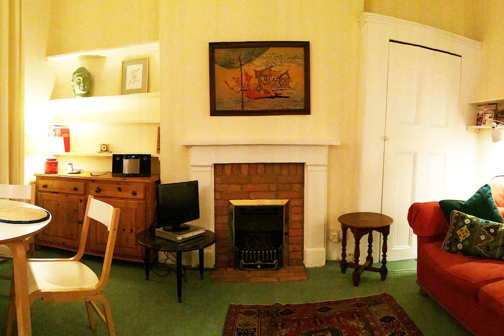 Evening in the sitting room (panorama shot)