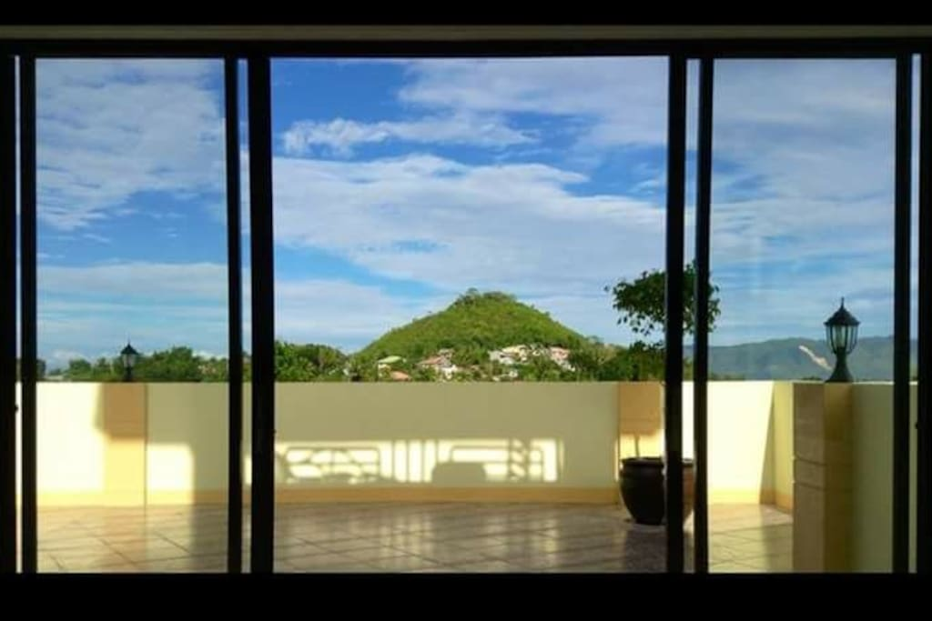 Sceneric View of Elly Hill right in front of the room