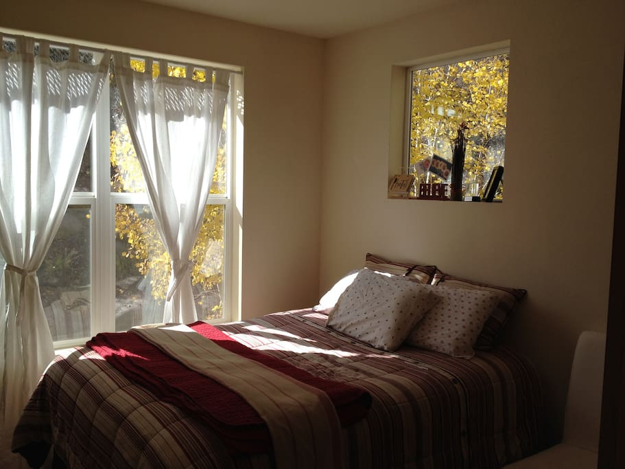 2nd bedroom, queen bed and twin trundle.