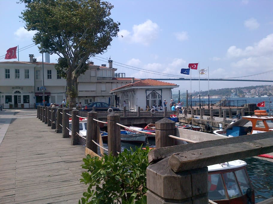 Beylerbeyi harbour fish restaurant just down the road five mn from home.