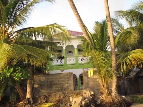 Sea side house in fishing village