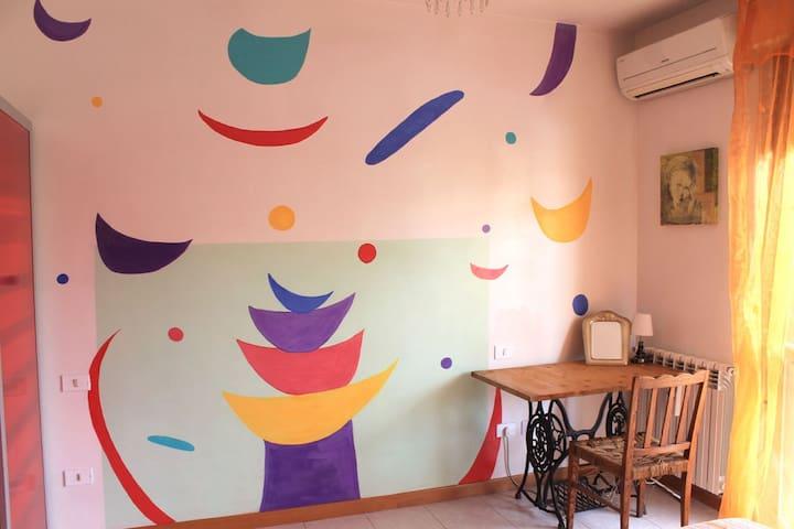 Murales&Comfort vicino alla Fiera - Rom