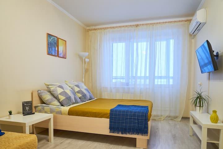 Уютная, просторная квартира (пер. Овражный, 17)