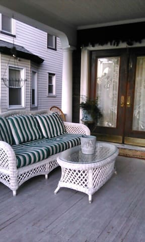 Feel free to relax on the front porch or