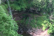 Beautiful Kaaterskill Falls is a must see while staying at Red Fox.