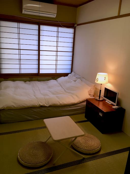 Japanese and European style room.