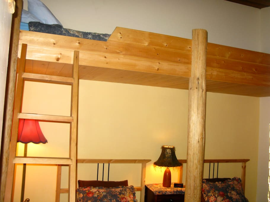 enjoy a regular single bed or a comfy bunk - warm duvets.