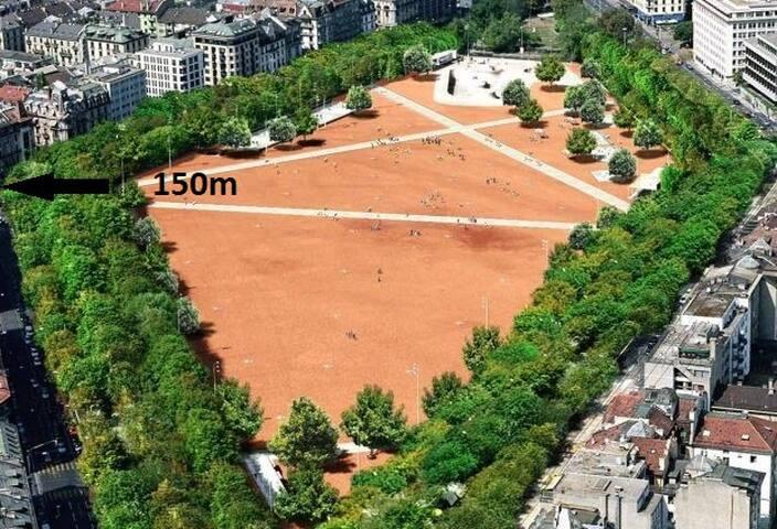 Le losange orange, cœur de Genève
